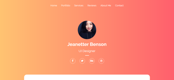 React One Page Portfolio Responsive Html 5 Template For Freelancers Agencies Bootstrap Template Personal Resume Templates