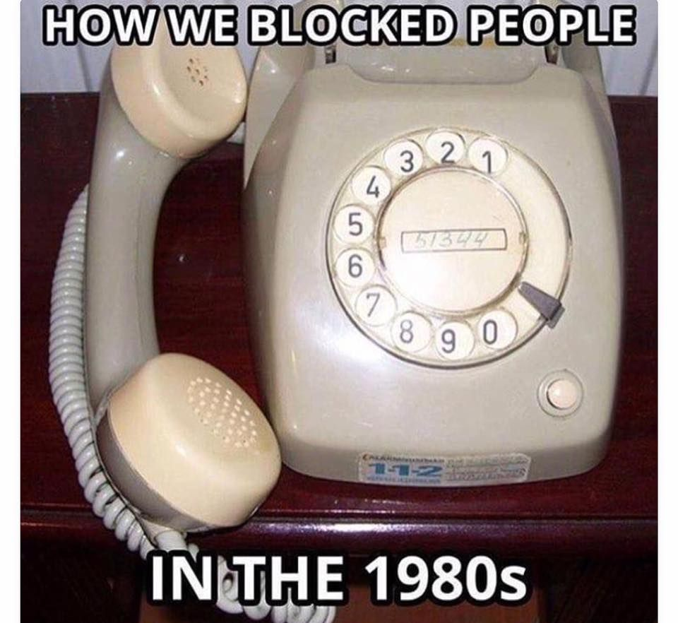 How we use to block people