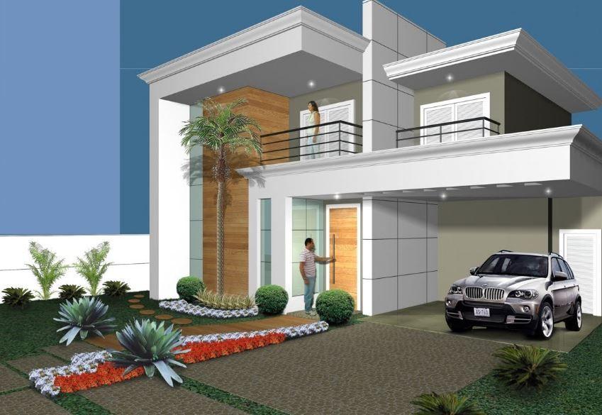 Fotos de casas modernas de 11 metros de frente fachadas for Disenos de frentes de casas modernas