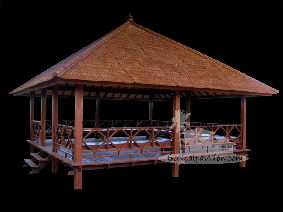 6x6m Balinese pavilion