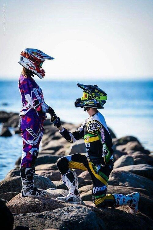 Motocross love. Beachy. Proposal. Love to Live
