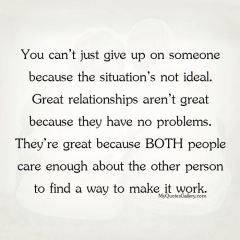 You can't just give up on someone