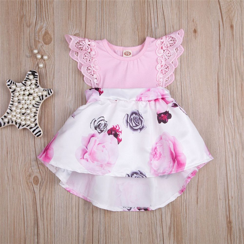 Baby Girls Dress Floral Print Outfits Price: 8.85 & FREE Shipping