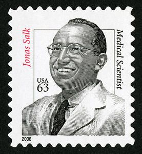 63c Dr Jonas Salk Single Postage Stamps Stamp Philately