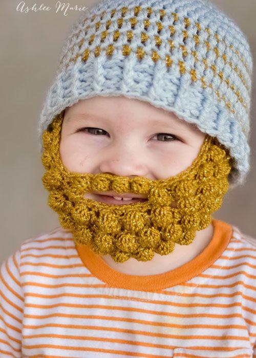 Bobble Bearded Beanie Free Crochet Pattern 365 Crochet Crochet