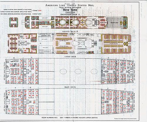 Pin On Deck Plans Steamships Ocean Liners