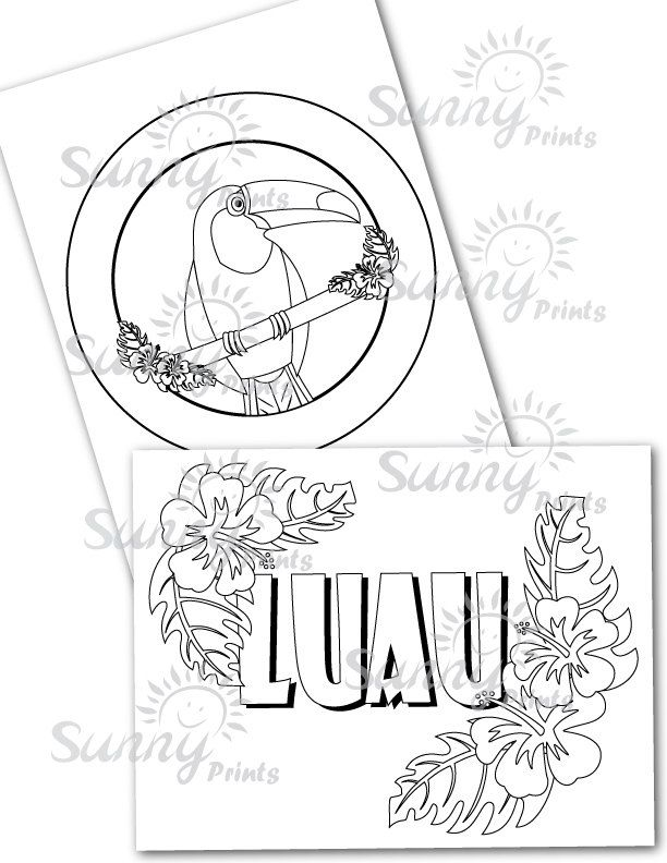 Luau printable coloring pages. | VBS ideas | Pinterest | Fiesta ...