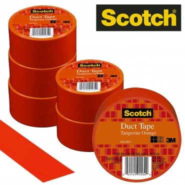 "6 Rolls of Scotch 3M Orange Duct Tape 20 Yards x 1.88"" Wide"