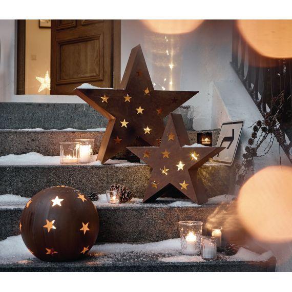 Outdoor Stern Rostoptik Metall Weihnachtsbeleuchtung Weihnachten Weihnachtsbeleuchtung Weihnachtsdeko Weihnachten