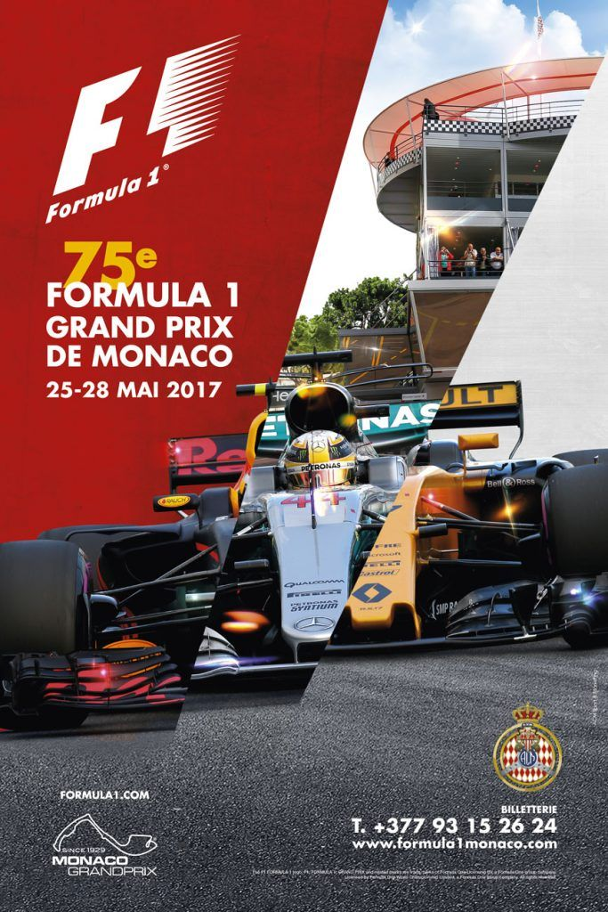 affiche grand prix de monaco f1 2017 formule 1 pinterest grand prix de monaco grand prix. Black Bedroom Furniture Sets. Home Design Ideas