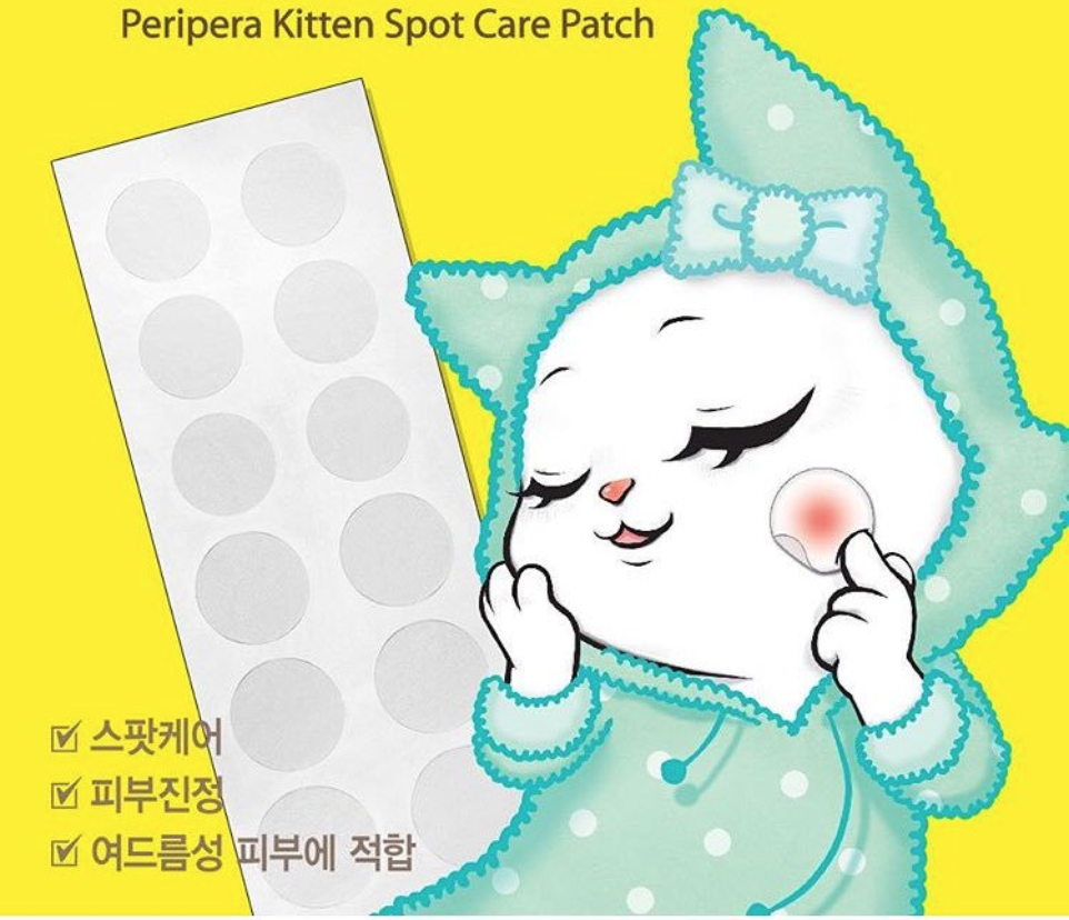Peripera Kitten Spot Care Patch - Acne Pimple Master Patch - Clear Up Strips Geschenkideen ♡ Cleaning ♡ Korean Sheet Mask ♡ 7 Day Sheet Mask Challenge ♡ Customer Photos ♡ Beauty Gifts For Her ♡ Cute ♡ Combination Skin ♡ Normal - All Skin Type ♡ Ajia-Box ♡ Reinigung ♡ Peripera