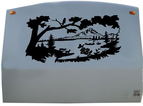 Mountains Lake Camping RV Camper Vinyl Decal Sticker Graphic - Custom rv vinyl decals