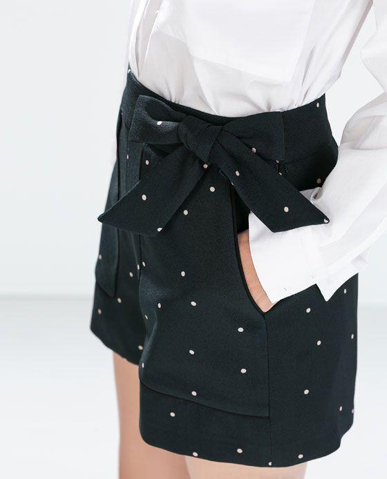 más baratas 113ff b0070 ZARA - MUJER - BERMUDA TIRO ALTO | ropa negra | Pantalones ...