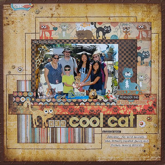Hey Cool Cat Scrapbook Basic Grey Max And Whiskers