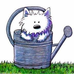 art westie garden helper iii by artist kiniart westie art pinterest rh pinterest com westie clipart free westie clipart free