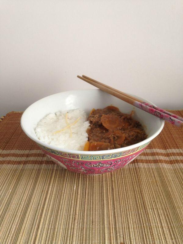 curry japonais et riz sushis mimy wasabi agneau. Black Bedroom Furniture Sets. Home Design Ideas
