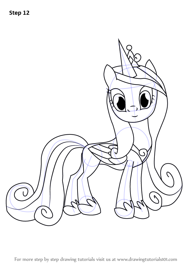 Learn How To Draw Princess Cadance From My Little Pony Friendship Is Magic My Little Pony Friendship Princess Drawings My Little Pony Drawing Fairy Drawings