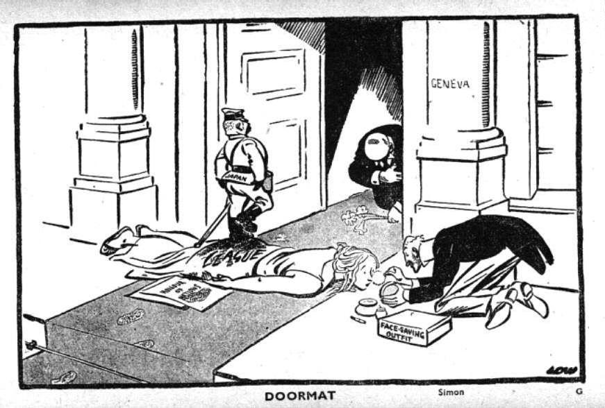 2 War Cartoons Chamberlain Political World
