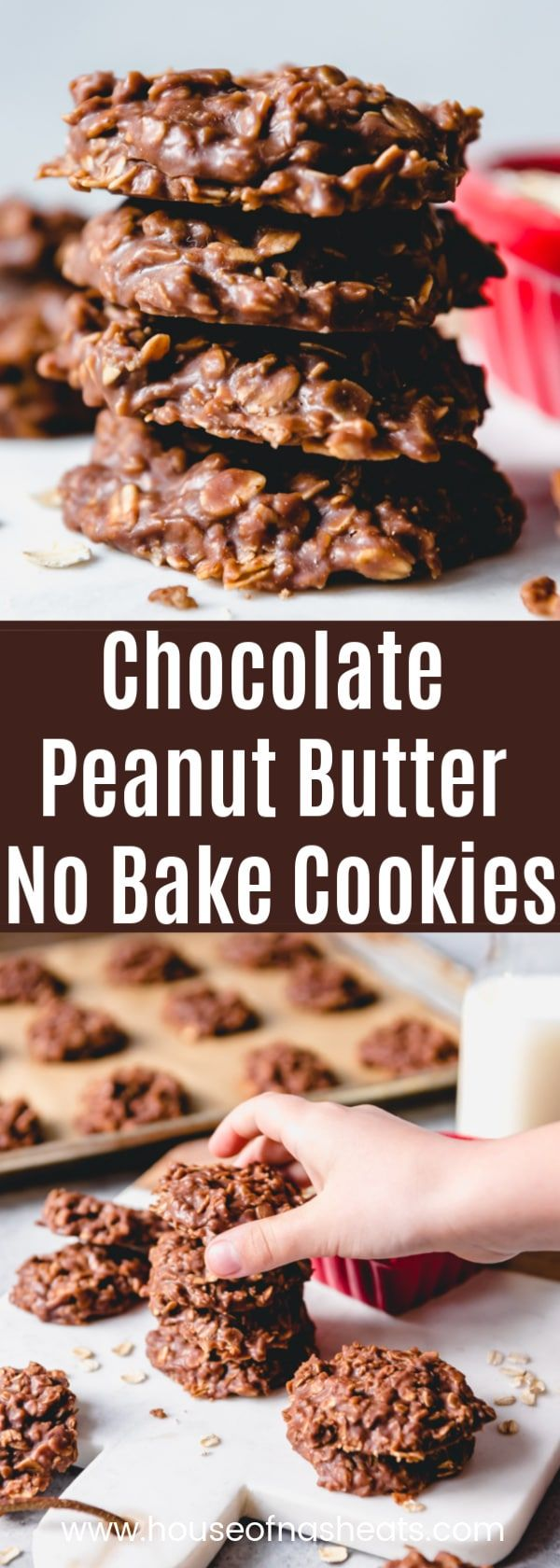 Chocolate Peanut Butter No Bake Cookies images