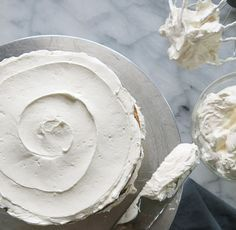 Italian Meringue Buttercream is perfect for cake decorating or as a cake filling. Click on the image for the recipe.