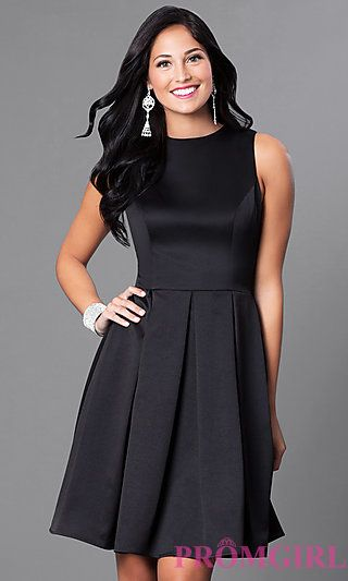 Box Pleats Black Dress