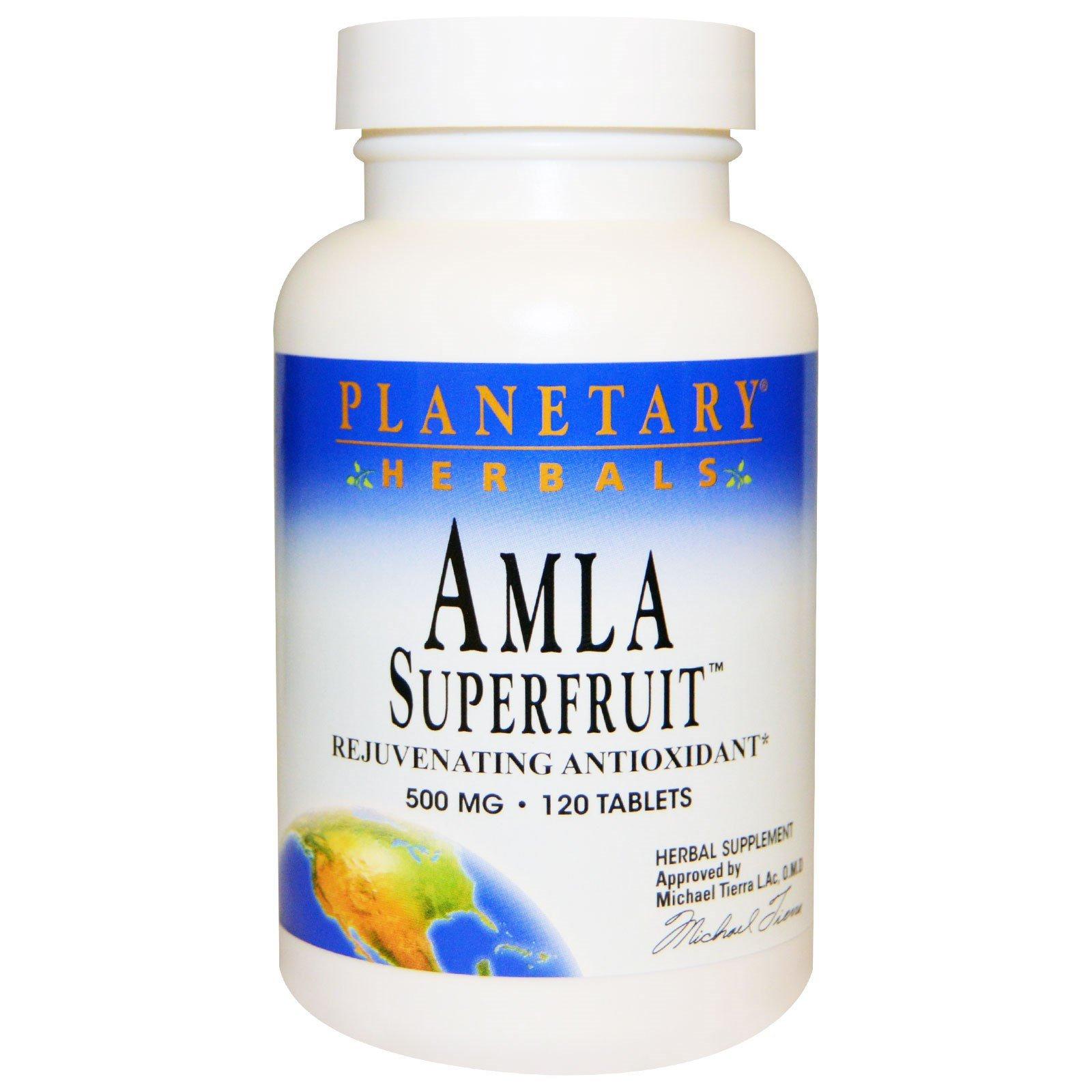 Planetary Herbals Amla Superfruit 500 Mg 120 Tablets Herbalism