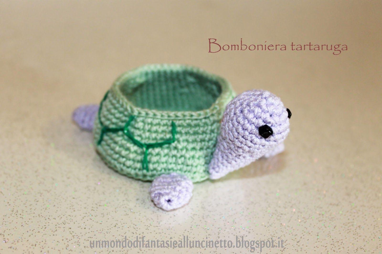 Piccole tartarughe amigurumi (1) - magiedifilo.it punto croce ... | 1066x1600