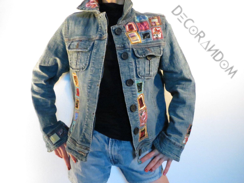 huge selection of ccab5 57696 Denim jacket, denim jacket woman, decorated, fabric, ethical ...