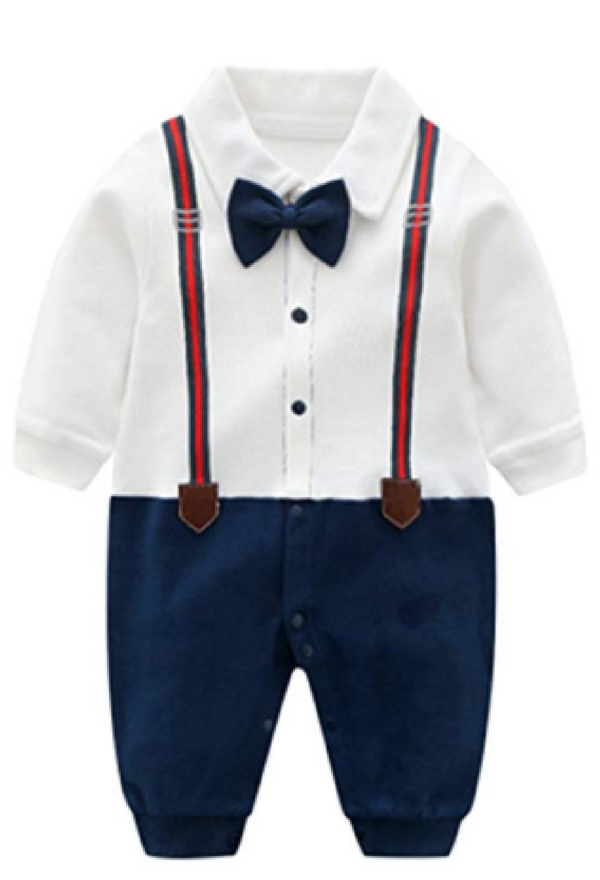 malapina Newborn Baby Boy Suit Dress Clothes Baptism Gentleman Outfits Cotton Rompers Clothing
