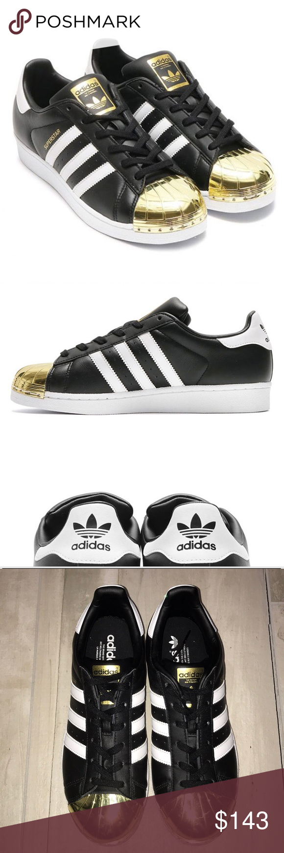 Adidas superstar Gold metal metallic toe 8 | Adidas