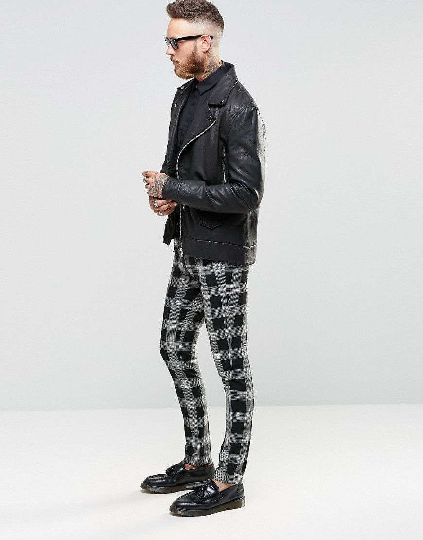 3ca455f62ced9 Image 3 of ASOS Super Skinny Suit Trousers in Tartan Check