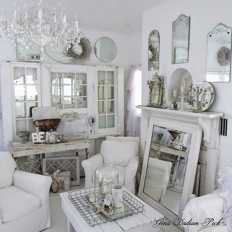 Interiors with Heart ~ love all the white and weathered accessories in this took!