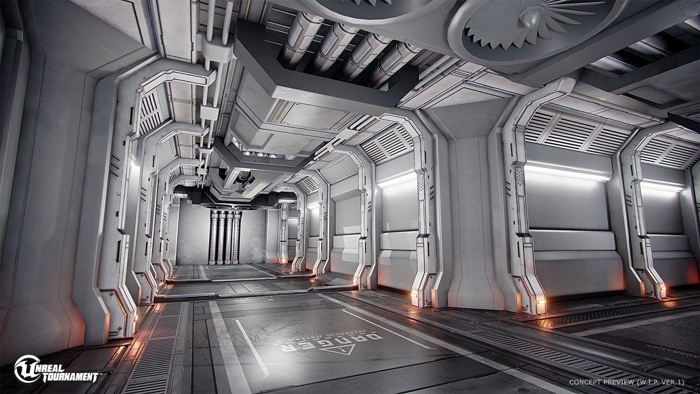 Concept Art Spaceship Interior Design