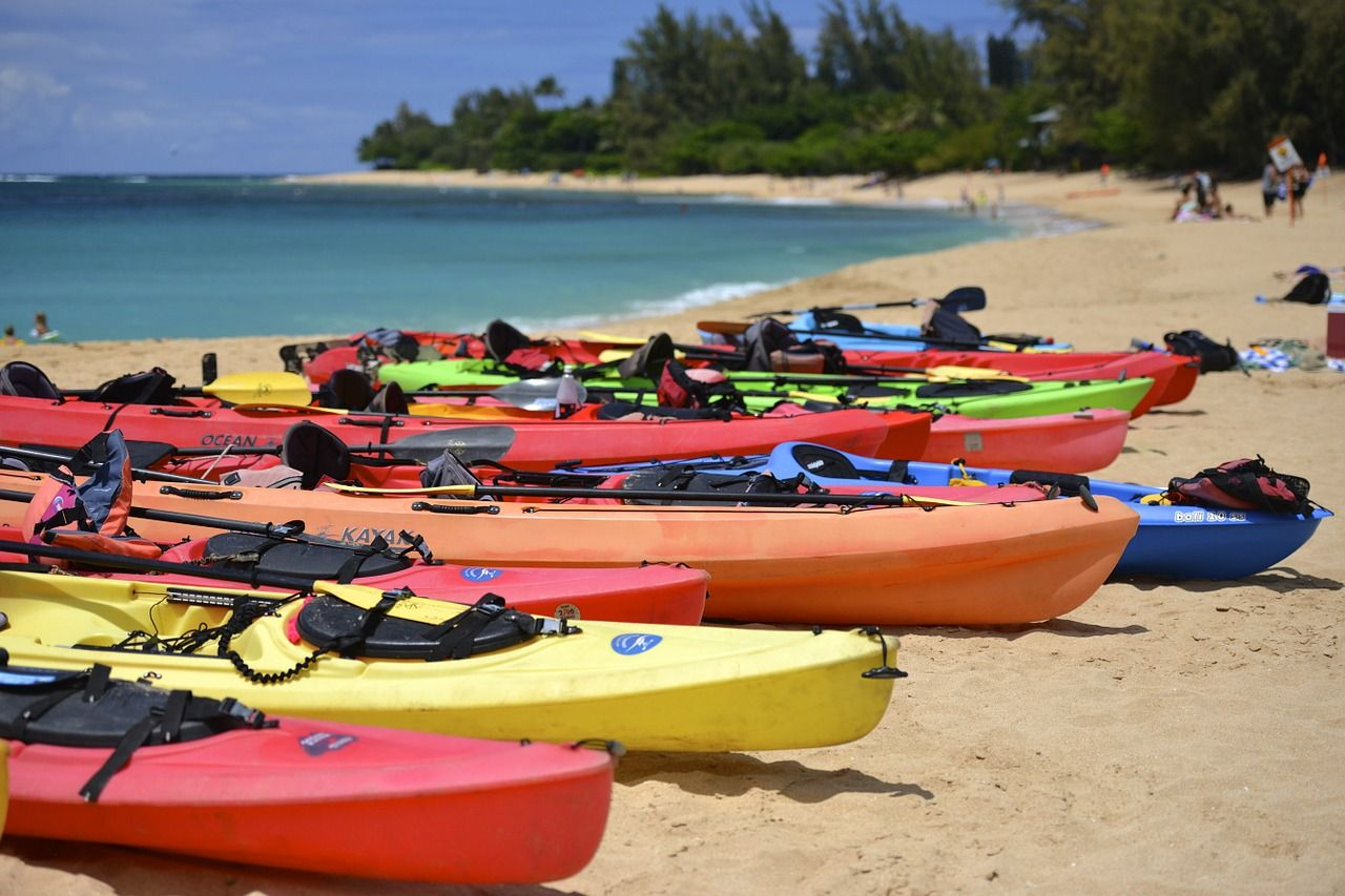 Vacation Kayak Boat Water Kayaking Sport Sea Paddle Vacation