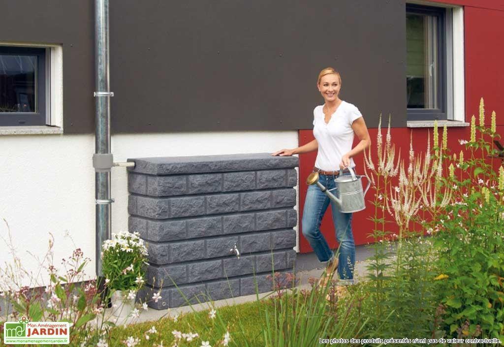 Cuve Récupération du0027Eau Pluie Murale Rocky 400L - recuperation eau de pluie maison