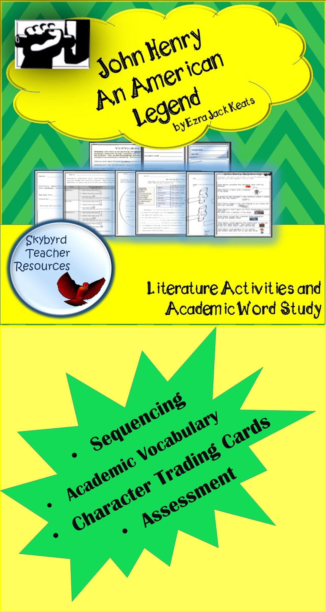 John Henry Tall Tale Literature Activities Amp Vocabulary