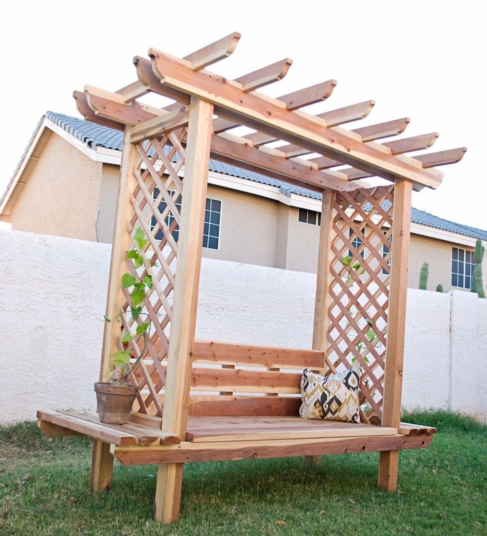 Pergola Designs With Lattice: 45 Garden Arbor Bench Design Ideas & DIY Kits You Can