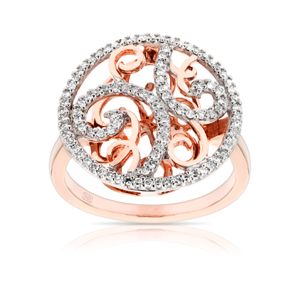 9ct Rose Gold Ring Wallace Jewellers Diamond