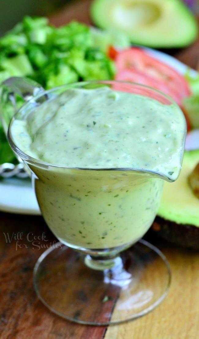 Creamy Avocado Dressing -