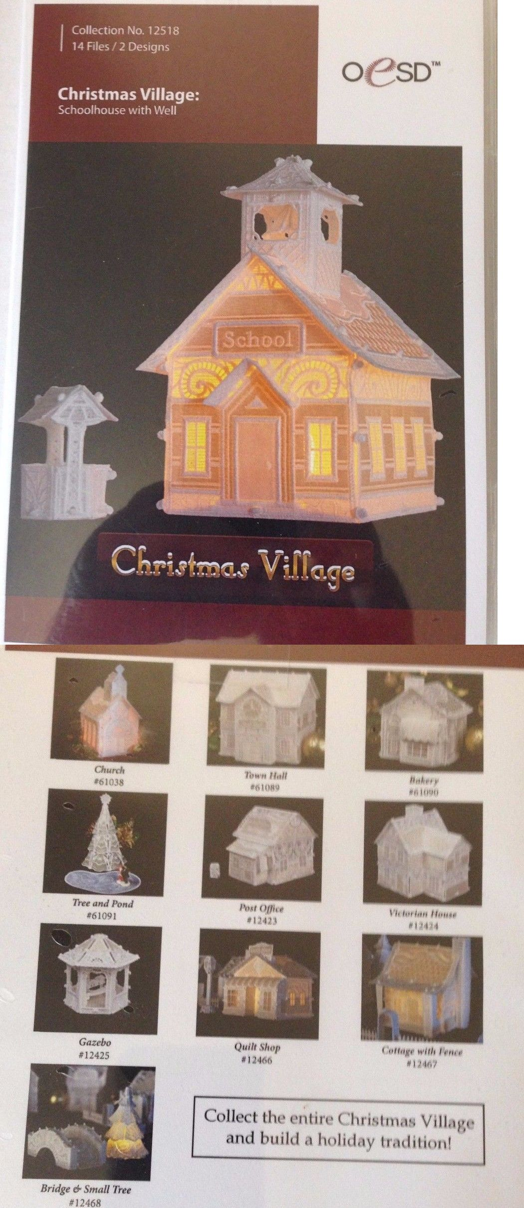 Design Cards and CDs 41383: Oesd,Christmas Village Fsl, Schoolhouse ...