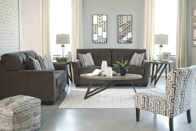 Effortless Style Incredible Value The Alsen Living Room Pairs A Modern Silhouette With Tufted Cushions And C Granite Sofa Living Room Sets Classy Living Room