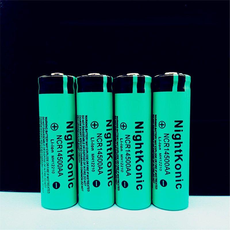 Hohe Qualitat Nightkonic 14500 Batterie 3 7 V Li Ion Akku Fur Taschenlampe Rechargeable Batteries Flashlight Battery