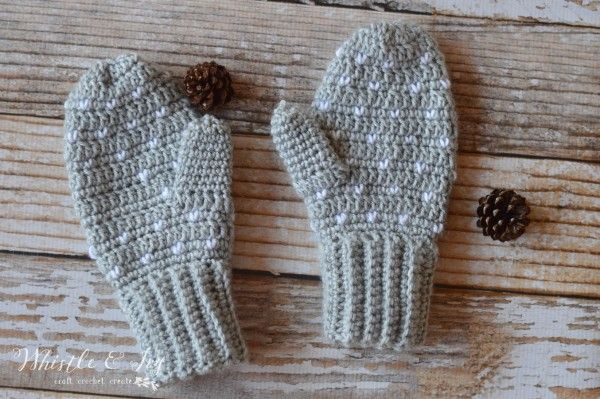 Snowfall Crochet Mittens Snow Falls Mittens And Snow