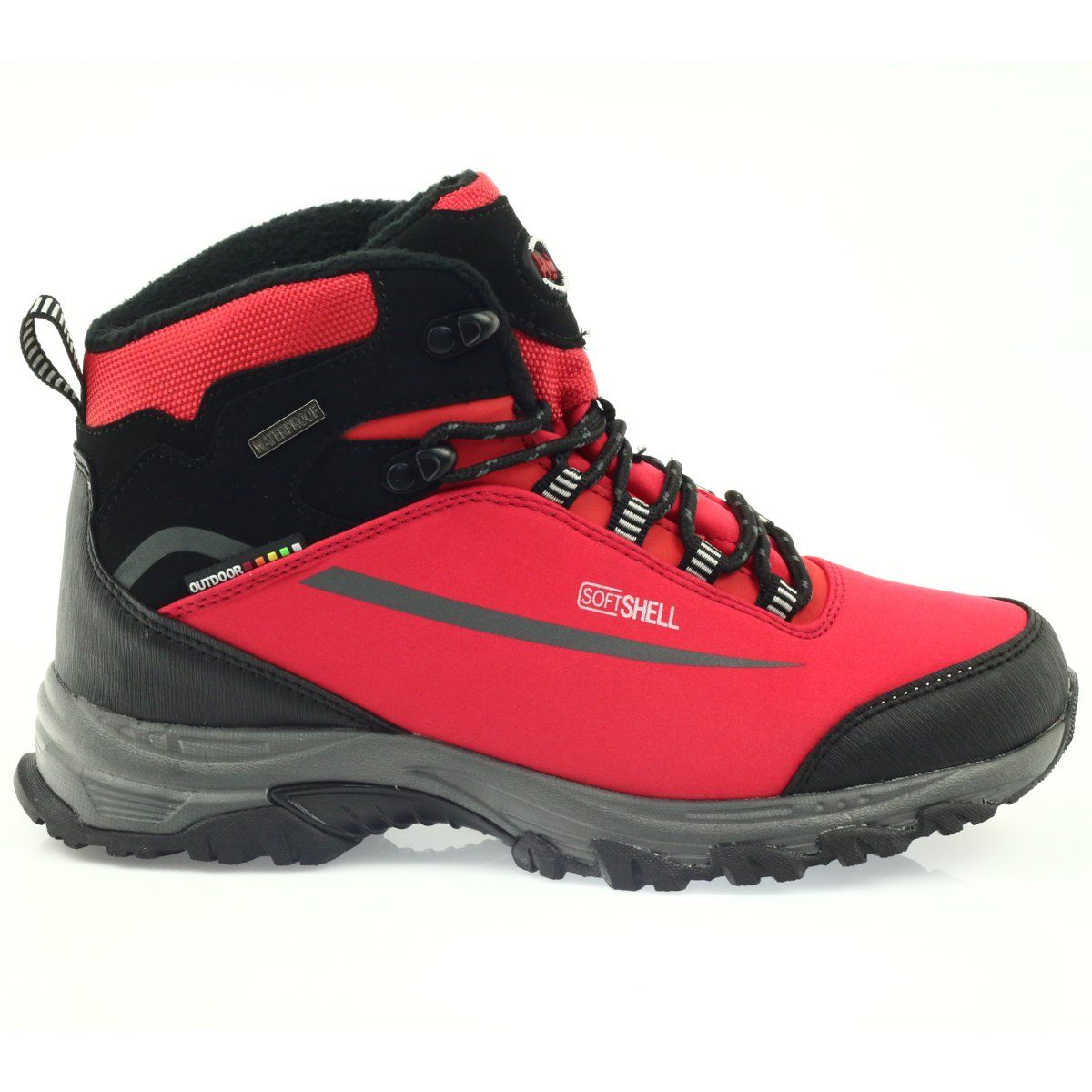 American Club Damskie Zimowe Buty American Czarne Hiking Boots Shoes Boots
