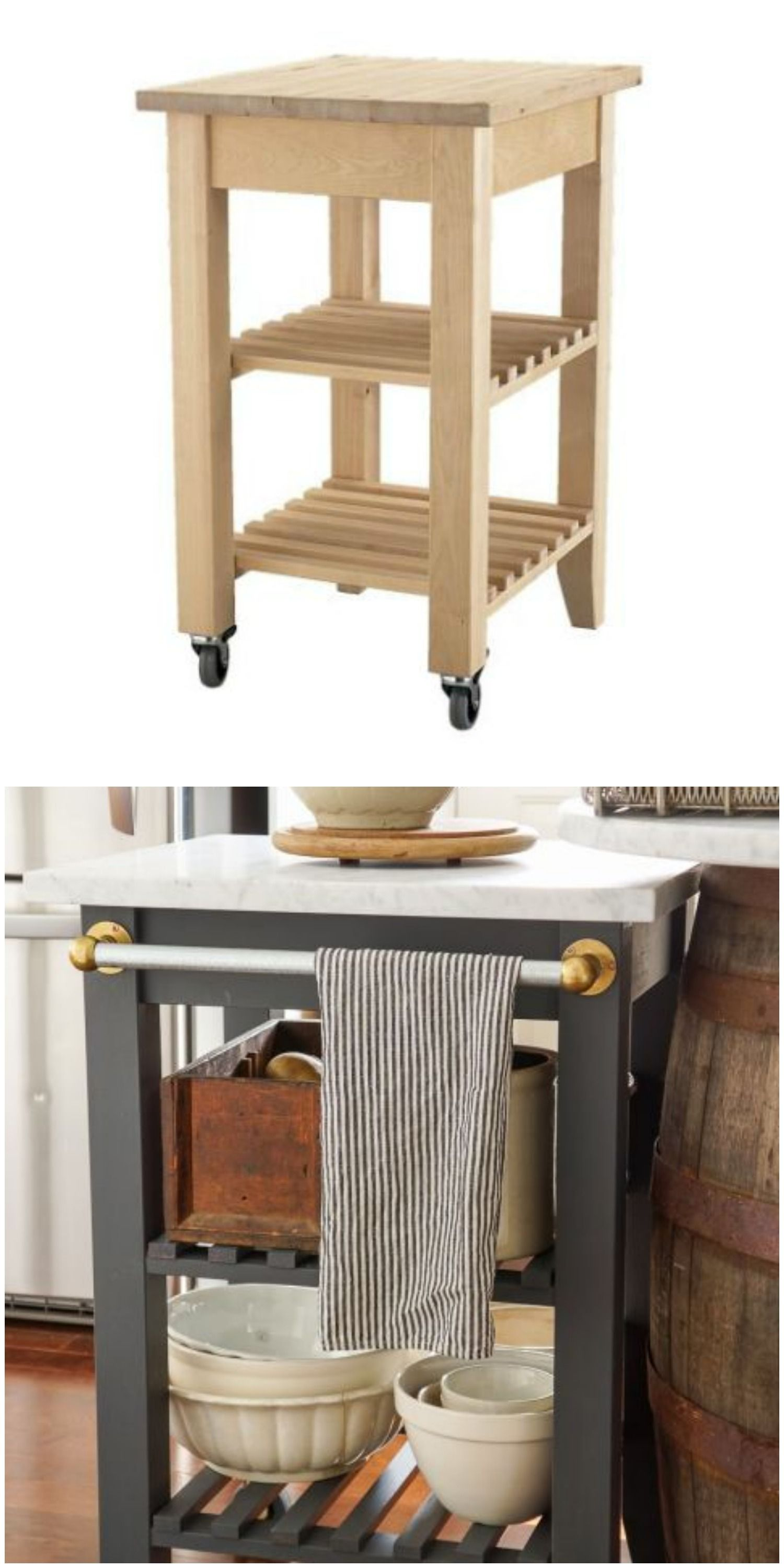 The Bekvam kitchen cart dazzles as a portable kitchen island in this IKEA hack