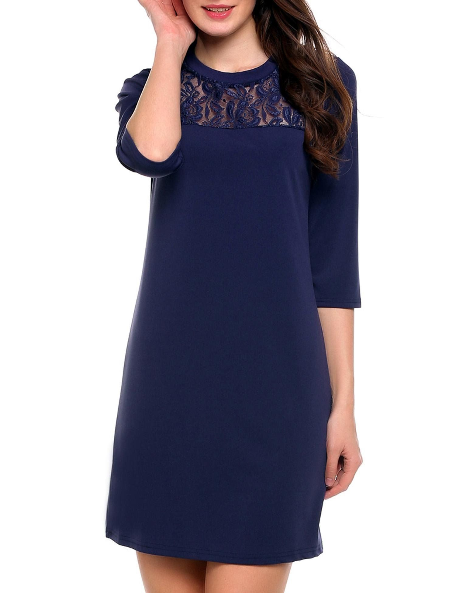 815c3ffc2a59f Maternity Styles - beautiful maternity dresses : ACEVOC Womens Maternity  Dress Casual Crew Neck Loose Tunic Dress Dark Blue S >>> Find out more at  the ...