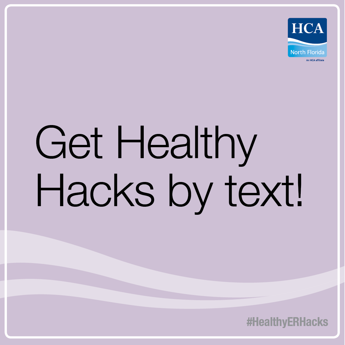 Sign up to get healthy ticks and tricks twice a week! #HealthyERHacks