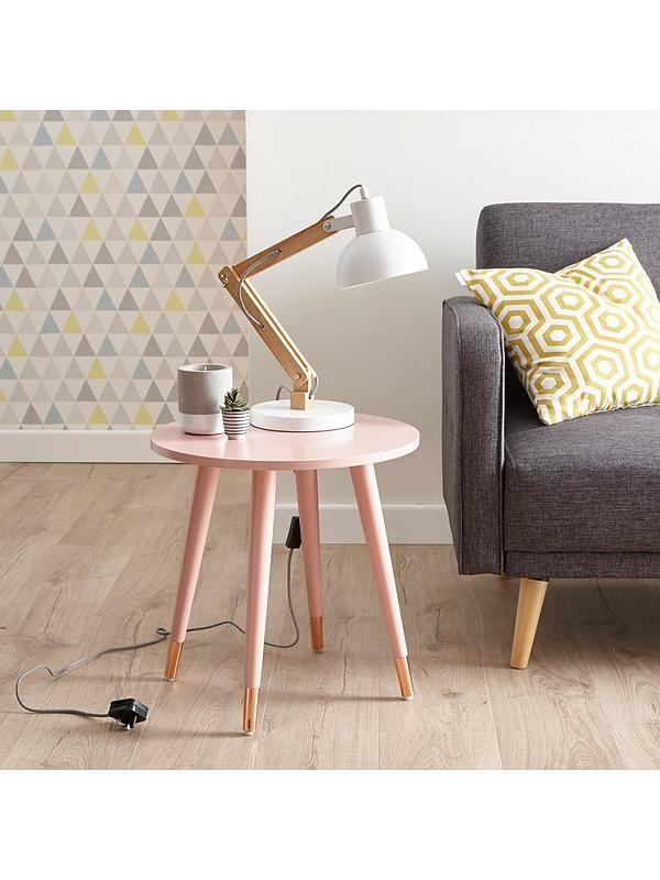 Ideal Home Teddy Side Table   Pink | Mid Century Modern Design,  Scandinavian Style And Mid Century Modern