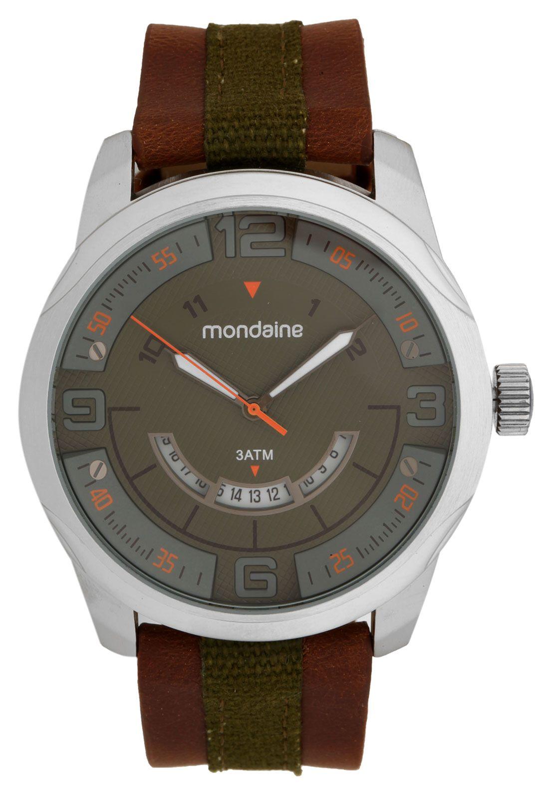 ac70cbca3d8 Relógio Mondaine 94976G0MVNJ1 Prata Marrom - Marca Mondaine