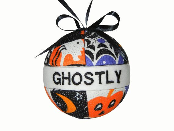 Halloween Decoration Quilted Kimekomi Ornaments by craftcrazy4u